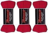 2Stoned 3 Paar Original PHAT Laces Rot 120cm lang und 3cm breit, Flache breite Schnürsenkel für Sneaker und Chucks