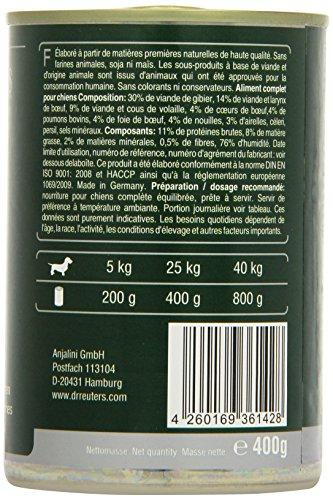 Dr. Reuter's Hundefutter Wild mit Spätzle und Preiselbeeren, 6er Pack (6 x 400 g) - 3