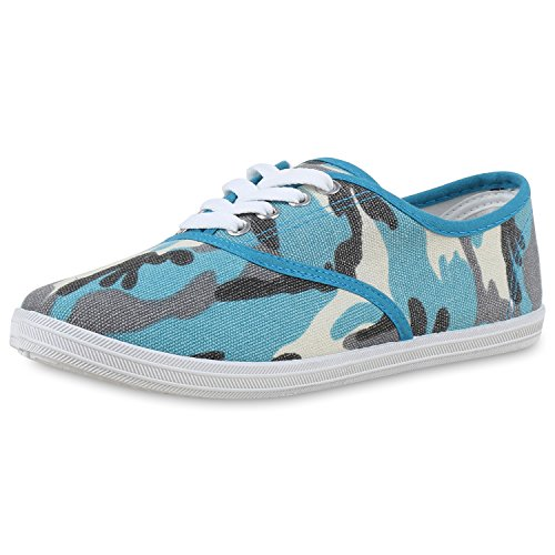 Best-boots Ballerines Sneakers Baskets Sneaker Camouflage Blau