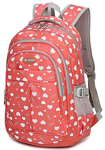 Zaini Keshi Nylon Cool School / Zaini Zaini Scuola / Ladies Vintage Con Strisce Moderne Per Ragazzi Ragazzi Studenti Pink