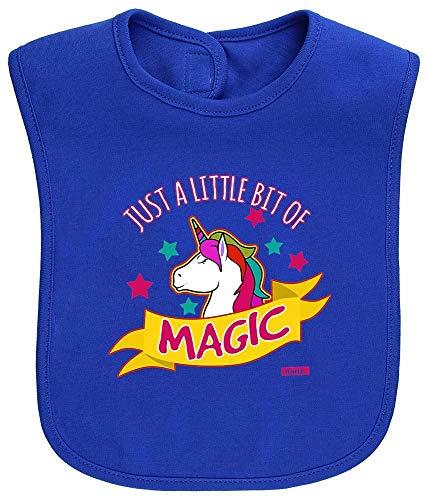 HARIZ Baby Lätzchen Just A Little Bit Of Magic Einhorn Tiere Zoo Inkl. Geschenk Karte Royal Königs Blau -