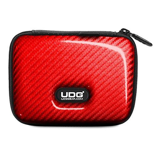 UDG Creator DIGI Hardcase Small Red U8451RD - Custodia rigida di protezione contro cadute, graffi e liquidi, per contenere 4 memorie USB, SD card, biglietti da visita ed accessori, Rosso
