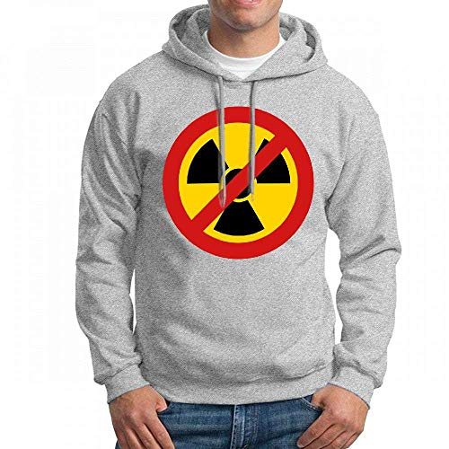 ruziniujidiangongsi Men's Sweatshir No Nuclear Power Custom Mens Hoodies