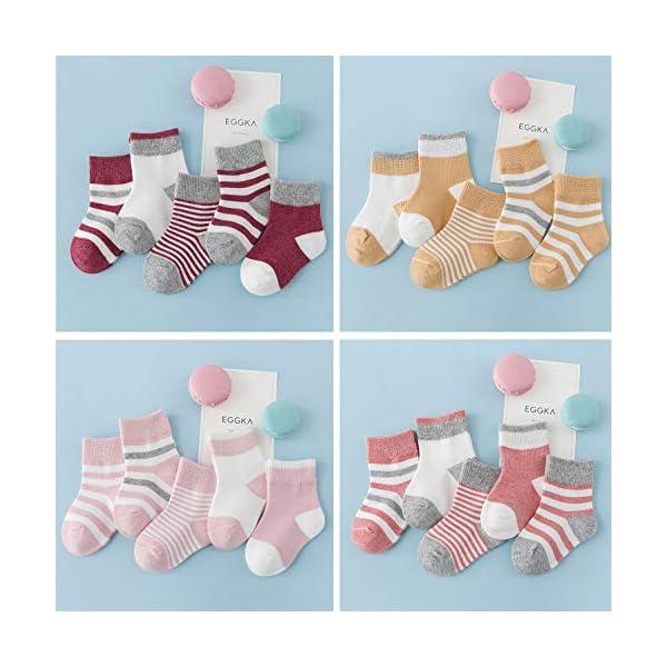 DEBAIJIA Niños Niñas Calcetines De Algodón Cómodo Suave Jogging Absorben el Sudor Antibacteriano primavera verano otoño… 5