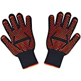 BBQ Grilling Cooking Gloves ,SUNNIOR 932°F Extreme Heat Resistant Gloves-Fire-retardant non-slip multi-functional barbecue insulated
