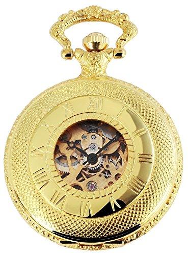 Excellanc Mechanische Taschenuhr Weiß Gold