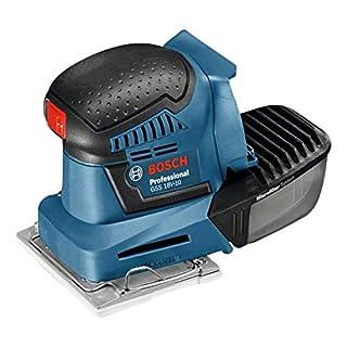 Bosch Professional 06019D0201 GSS 18V-10 Professional Akku Schwingschleifer GSS Ladegerät, 3X Schleifpapier, 3X Schleifplatte, Stanzwerkzeug, Schraubendreher, L-Boxx, 18V, 10,2 x 5,0 Ah, 18 V, 2 Stück