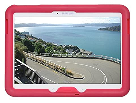 Bobj Etui en Silicone Robuste pour Tablette Samsung Galaxy Tab 4 10.1 et Tab 3 10.1, modeles Wifi (SM-T530), 3G (SM-T531), 4G (SM-T535), et d'autres modeles SM-T53...., et GT-P5200, GT-P5210, GT-P5220 - BobjGear Housse de Protection (Framboise)