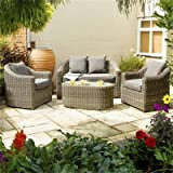 Rowlinson Rattan 4-Seater Bunbury Sofa Set - Natural