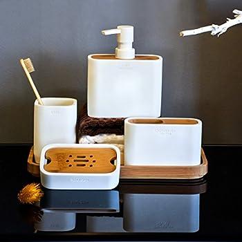 accessoire de salle de bain Ensemble 3 pièces Distributeur de savon ...