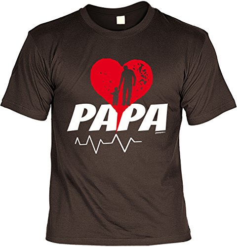 Vatertag Papa T-Shirt Geschenk Geburtstag Weihnachten Vatertagsgeschenk Papa Braun