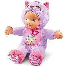 Little Love - Baby gatito muñeco bebé blandito de tela interactivo que incorpora luz, voces y frases que contribuye al aprendizaje y desarrollo de la imaginación (VTech 3480-196422)