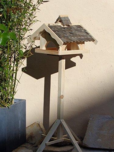 Vogelhaus,groß,mit Nistkasten,BEL-X-VONI5-at002 Großes wetterfestes PREMIUM Vogelhaus VOGELFUTTERHAUS + Nistkasten 100% KOMBI MIT NISTHILFE für Vögel WETTERFEST, QUALITÄTS-SCHREINERARBEIT-aus 100% Vollholz, Holz Futterhaus für Vögel, MIT FUTTERSCHACHT Futtervorrat, Vogelfutter-Station Farbe schwarz lasiert, anthrazit Schwarzlasur / Holz natur, MIT TIEFEM WETTERSCHUTZ-DACH für trockenes Futter - 2