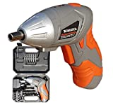 Terratek Cordless Screwdriver 3.6V Lithium Ion Compact Rechargeable Electric Screwdriver Set, Includes 45pc Screwdriver Bit Set Easy To Use, Robust Carry Case