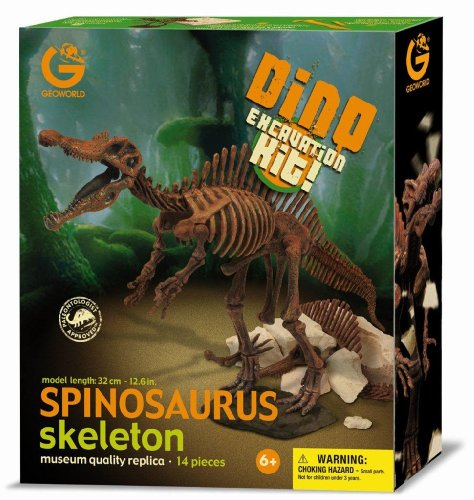 Imagen principal de Geoworld Dino Excavation Kit 23211312 Spinosaurus - Kit de excavación de esqueletos de dinosaurio (32 cm)