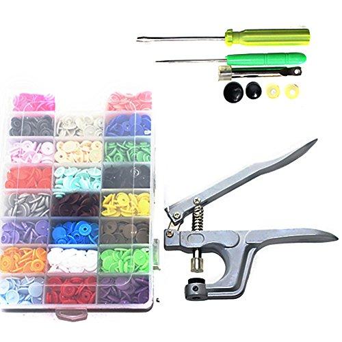 (Centtechi Druckknopf in 360 Stück Druckknöpfe mit Snaps Zange- Nähfrei Druckknopf für Jacken, Kleidungsstücke und Accessoires (12 mm, 24 Farben))