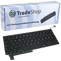 """Trade-Shop Premium Laptop-Tastatur / Notebook Keyboard Ersatz Austausch Deutsch QWERTZ für Apple Macbook Pro 15"""" 38,1cm A1286 2009 2010 2011 2012 (Deutsches Tastaturlayout, Hintergrundbeleuchtung)"""