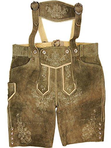 kurze Lederhose VALENTIN von WildLand aus Ziegenvelour, Größe:64;Farben:sand