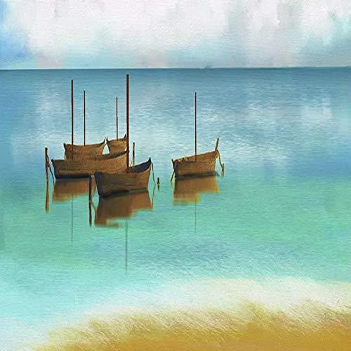 YiShuQiang Wallpaper Fototapeten Strandboot Wandaufkleber Home Wanddekoration Wandbilder Wohnzimmer Schlafzimmer Büro Flur Dekoration Fototapetens,sample-70 * 50(WXH)