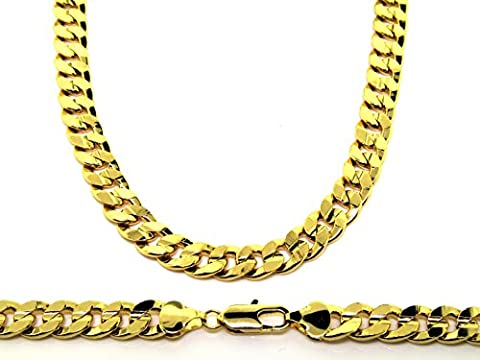 Men's Luxury 18ct Gold Plated 10mm 20