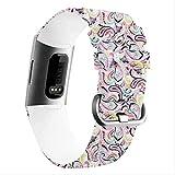 Reloj Deportivo CCWL Pulsera de Pulsera de Color Fitness, Adecuada para 3 Pulseras de Reloj Deportivo Inteligente, Adecuada para Amantes de la Pulsera Fitbit Reloj Deportivo L (170-206 mm) J