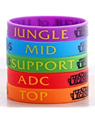 League of Legends Silicone Wristbands Colorful Rubber Unisex Bracelets Fashionable Cosplay Accessory