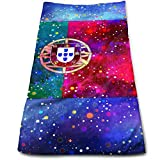 Wfispiy Portugal Flag Starry Flag Face Hand Towels Sweat Absorbend Perfect for Hot Yoga,Home,Business Professional Grade 27.5 X 12 inch.