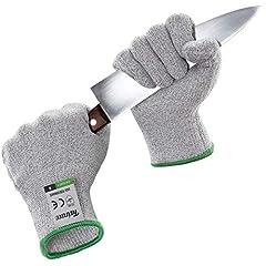 Idea Regalo - Twinzee® Guanti Anti Taglio - Protezione di Livello 5 ad Alte Prestazioni, Grado Alimentare, Certificato EN 388, 1 paio (Medium)