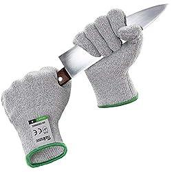 Twinzee® Schnittschutz-Handschuhe (1 Paar) - Extra Starker Level 5 Schutz, EN-388 Zertifiziert, Lebensmittelecht - Hochwertig und Leicht, für alle Zwecke - Perfekte Passform (Large)