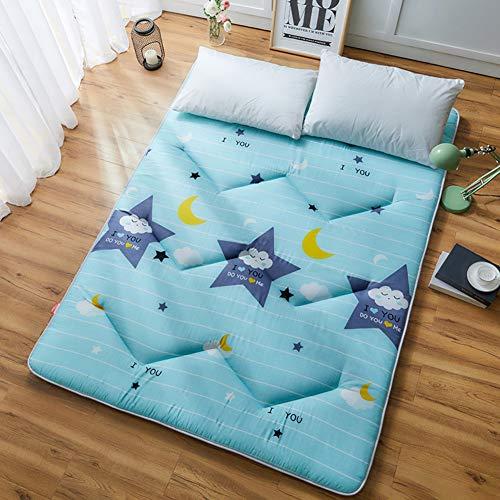 Tatami Suelo Estera De Colchón Sleeping Pad, Respirable Colchoneta,Espesar Japonés Futón Cubre Colchón para Casa Dormitorio-b 100x200cm(39x79inch)