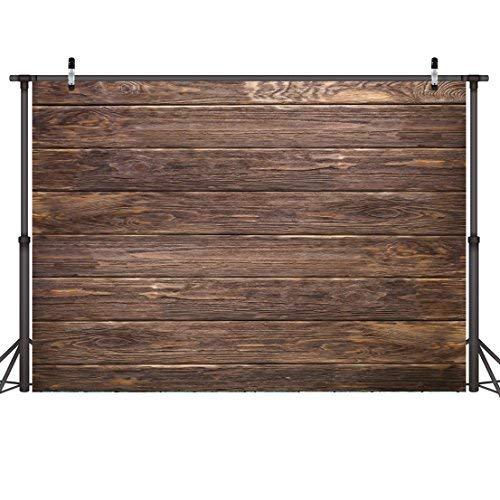 LYWYGG 7x5ft Thin Vinyl Braun Holz Hintergrund für Fotografen Retro Holz Wand Hintergrund Baumwolltuch Nahtlose für Party Fotografie Studio Requisiten CP-19-0705 - Cp-holz