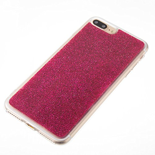 Handyhülle iPhone 6s Glitzer, LuckyW TPU Silicone Transparente Handyhülle für Apple iPhone 6 6s (4.7 zoll) 3D Bling Glitter Glitzer Shinny Sparkle Crystal Kristall Tasche Flexible Kratzer Stoßfest Scr Rot