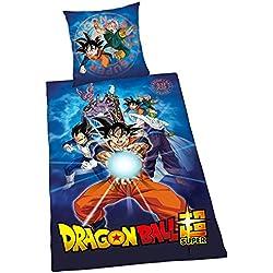 Herding Dragon Ball Super Juego de Cama, algodón, Multicolor, 200x 135cm