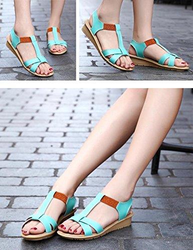 MZG Sandali semplici di modo di estate Donna Sandali di gomma di gomma di comodità dei pattini di caramella 3