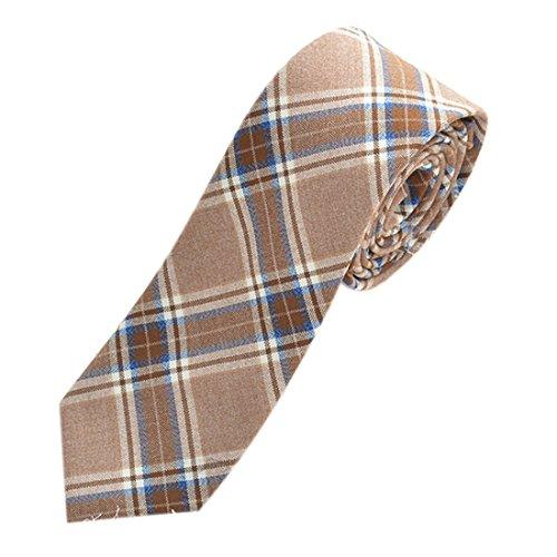 Gnaixeh Plaid Krawatte Für Männer Junge Skinny Neck Krawatte Uniform Cosplay -