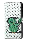 Housse Samsung S7 Cuir Coque Galaxy S7 Case étui de Portefeuille Protection Pour Samsung SM-G930F Galaxy S7 Etui en Cuir Flip Cover (Hibou vert)