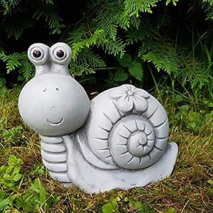 Gartendeko süße Schnecke mit Blumenkleid handbemalt frostfest Deko für außen Garten Balkon Terassen Gartenfiguren