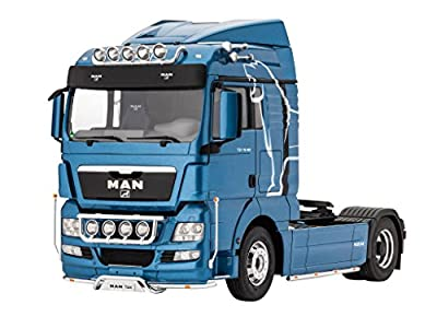 Revell Modellbausatz LKW 1:24 - MAN TGX XLX im Maßstab 1:24, Level 5, originalgetreue Nachbildung mit vielen Details, Lastwagen, Truck, 07426 von Revell