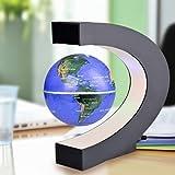 Dailyinshop Levitation Anti Schwerkraft Globus Magnetic Floating Globe Weltkarte mit LED-Licht (Farbe: Blau)