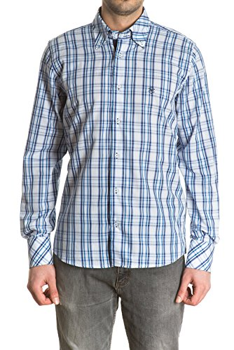 di-prego-mens-long-sleeve-navy-blue-plaid-shirt-with-a-white-detail-at-collar-reversible-cuffs-in-bl