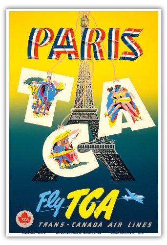 paris-tca-bestcity-trans-canada-air-lines-torre-eiffel-la-aerolinea-viaje-por-h-p-c1940s-maestro-de-