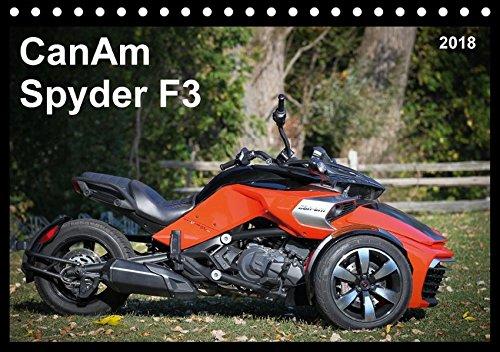 CanAm Spyder F3 (Tischkalender 2018 DIN A5 quer): Motorrad-Feeling ohne Motorrad: Das bullige HighTech-Trike CanAm Spyder F3 (Monatskalender, 14 ... [Kalender] [Apr 01, 2017] Wolff, Jürgen Trike Hinten