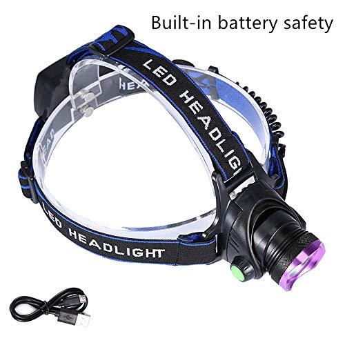 Lightess LED Stirnlampe Kopflampe USB Wiederaufladbar Wasserdicht XML-T6 LED Superhell Kopfleuchte 8