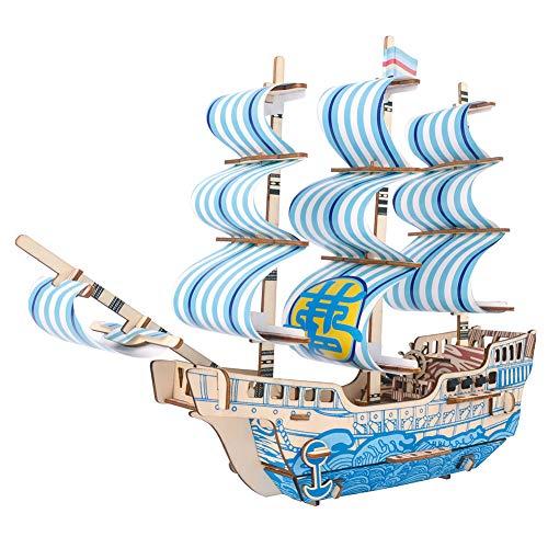 Hfudgj DIY Fähre Kinder Schiffsmodell Holz Segelboot Spielzeug Modell Montiert Holz Kit Schiff Holz Spielzeug Geschenk Spiele Boot (Traumschiff) (Holz-boote-modelle)