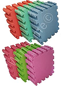 Winsome® 10Pc Kids Play Soft Puzzle Mat Foam Interlocking Floor Protector Crawling Pray Tumbler Gym Picnic Indoor & Outdoor from Winsome