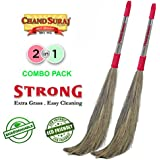 [Sponsored]Chand Suraj Strong 2 Pc Combo Of Grass Floor Broom Stick For Floor Cleaning (Phool Jhadu/Mop)