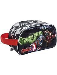 Avengers Marvel assembler Kosmetiktäschchen, 26 cm, multi-couleur (Gris Y Negro)