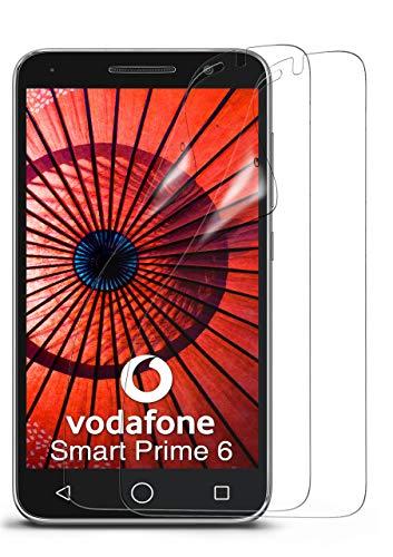 moex 2X Vodafone Smart Prime 6   Schutzfolie Klar Bildschirm Schutz [Crystal-Clear] Screen Protector Display Handy-Folie Dünn Bildschirmschutz-Folie für Vodafone Smart Prime 6 Bildschirmfolie