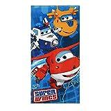 Super Wings Badetuch 70x140cm Strandtuch (Blau 4326A)