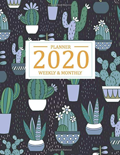 2020 Weekly and Monthly Planner: Calendar of 2020, from January 2020 - December 2020 by weekly and daily to do list schedule and appointment with dark ... (2020 weekly and monthly calendar, Band 3) -